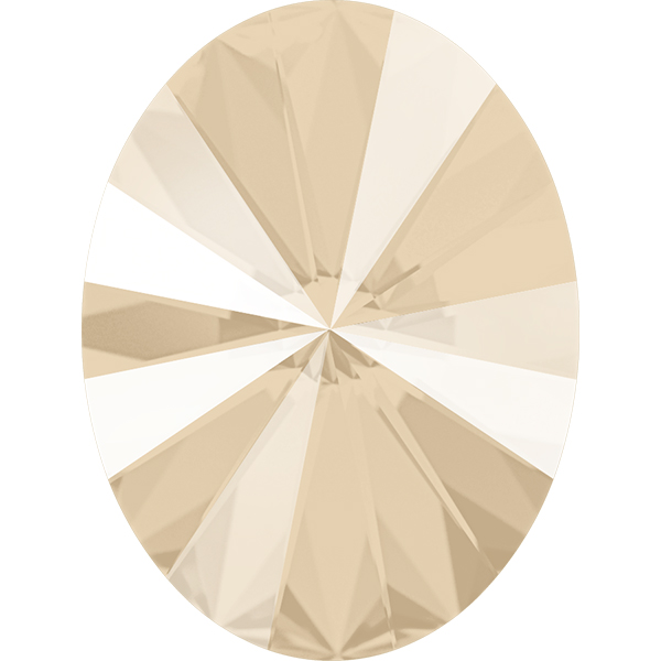 Swarovski 4122 Oval Rivoli Fancy Stone Crystal Ivory Cream 8x6mm