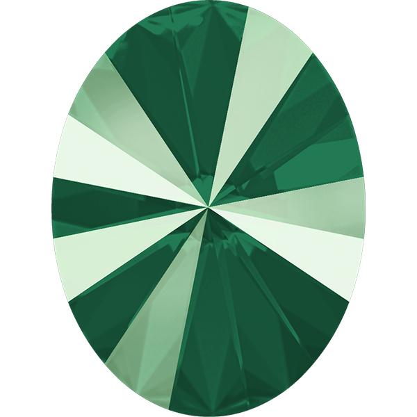 Swarovski 4122 Oval Rivoli Fancy Stone Crystal Royal Green 8x6mm
