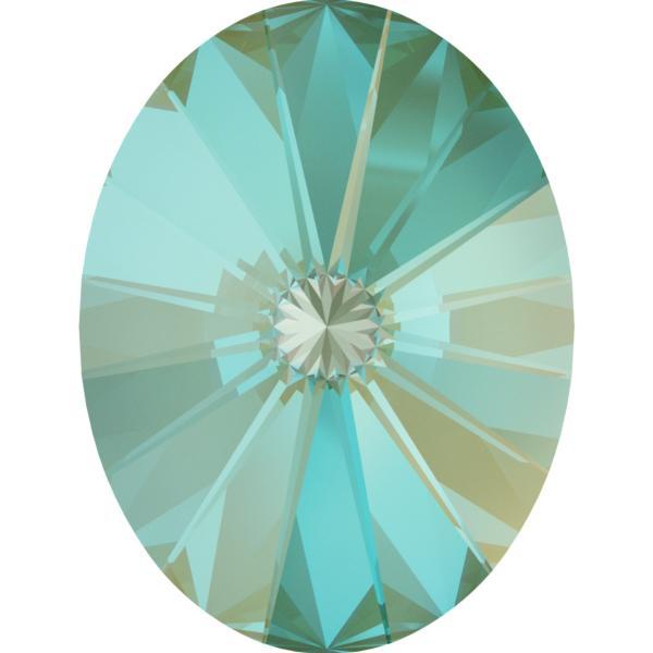 Swarovski 4122 Oval Rivoli Fancy Stone Crystal Silky Sage DeLite 18x13.5mm