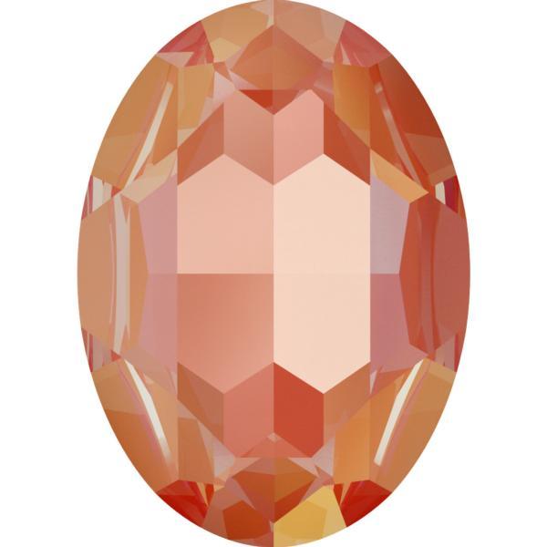 Swarovski 4127 Large Oval Fancy Stone Crystal Orange Glow DeLite 30x22mm