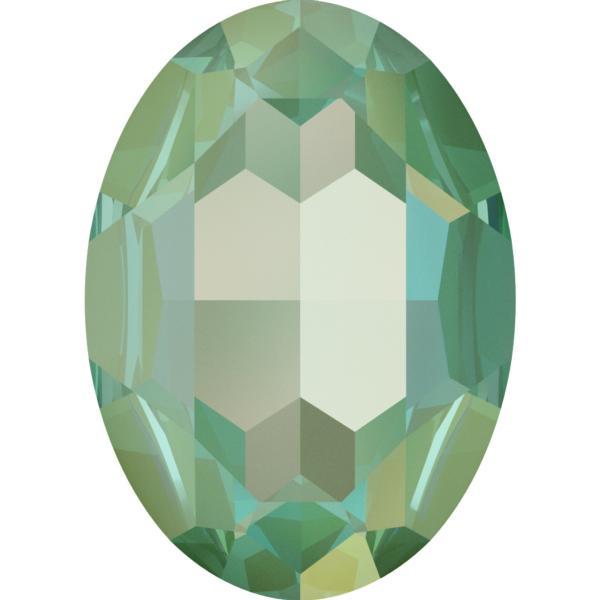 Swarovski 4127 Large Oval Fancy Stone Crystal Silky Sage DeLite 30x22mm