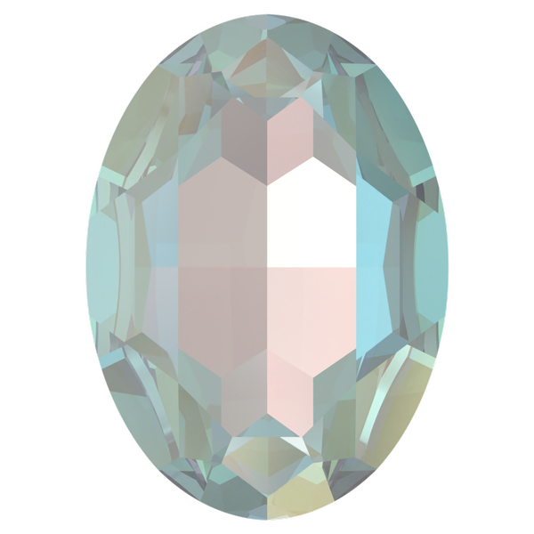 Dreamtime Crystal DC 4127 Large Oval Fancy Stone Crystal Serene Gray DeLite 30x22mm