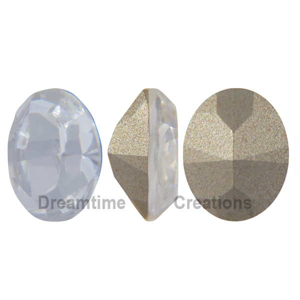 Swarovski 4128 Xilion Oval Fancy Stone Crystal 10x8mm