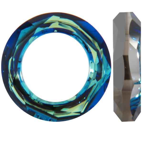 176998ccec443 Swarovski 4139 Cosmic Ring Fancy Stone Crystal Bermuda Blue 20mm