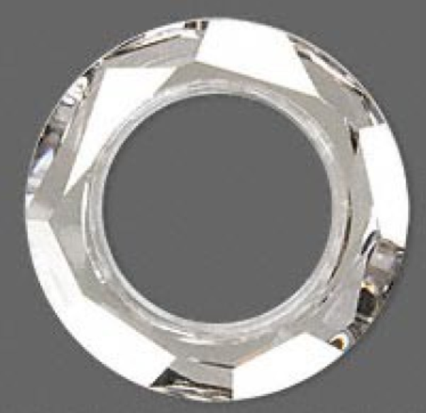 68168cde9bdcd Swarovski 4139 Cosmic Ring Fancy Stone Crystal Silver Shade CAL V SI 20mm