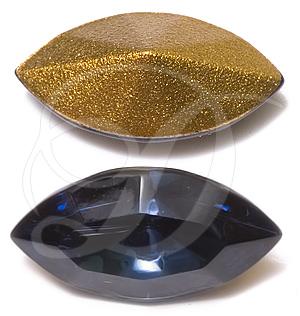 Swarovski 4200/2 Navette Fancy Stone (Table Cut) Montana 15x7mm