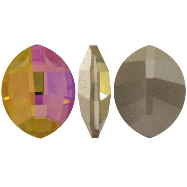 Swarovski 4224 Pure Leaf Fancy Stone Crystal Purple Haze 14x11mm