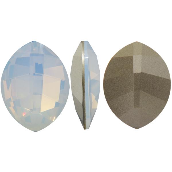 Swarovski 4224 Pure Leaf Fancy Stone White Opal 23x18mm