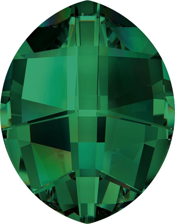 Swarovski 4224 Pure Leaf Fancy Stone Emerald 23x18mm