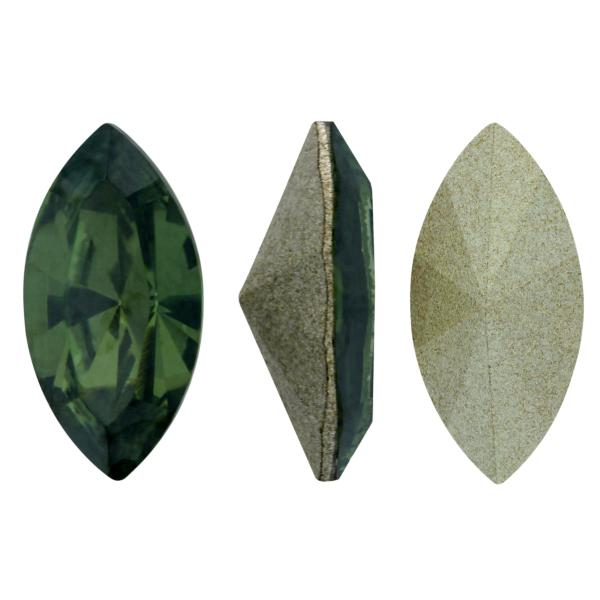 Swarovski 4228 Navette Fancy Stone Peridot Satin 10x5mm