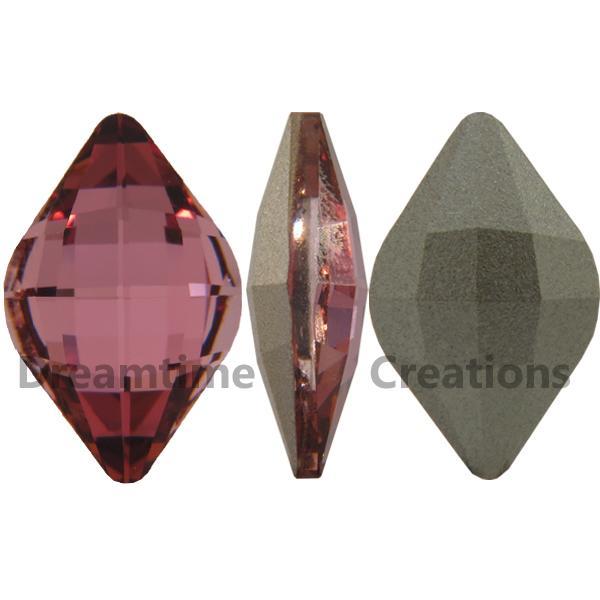Swarovski 4230 Lemon Fancy Stone Crystal Antique Pink 19x12mm