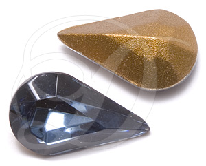 Swarovski 4300/2 Pear Shaped Fancy Stone (Table Cut) Montana 10x6mm
