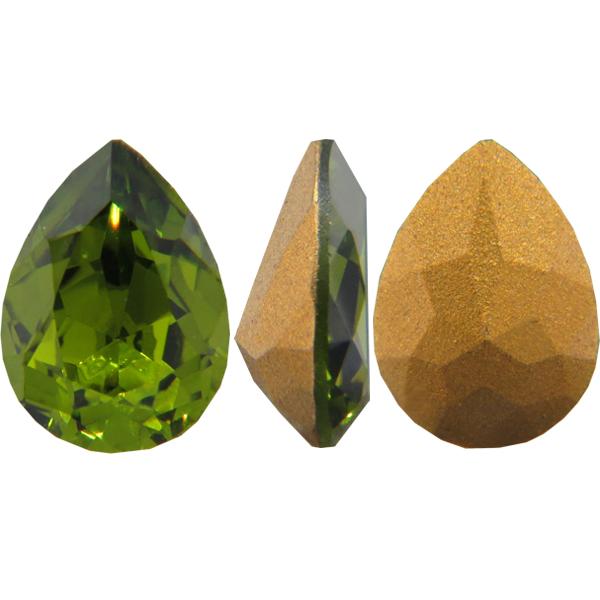 Swarovski 4320 Pear Shaped Fancy Stone Olivine 18x13mm