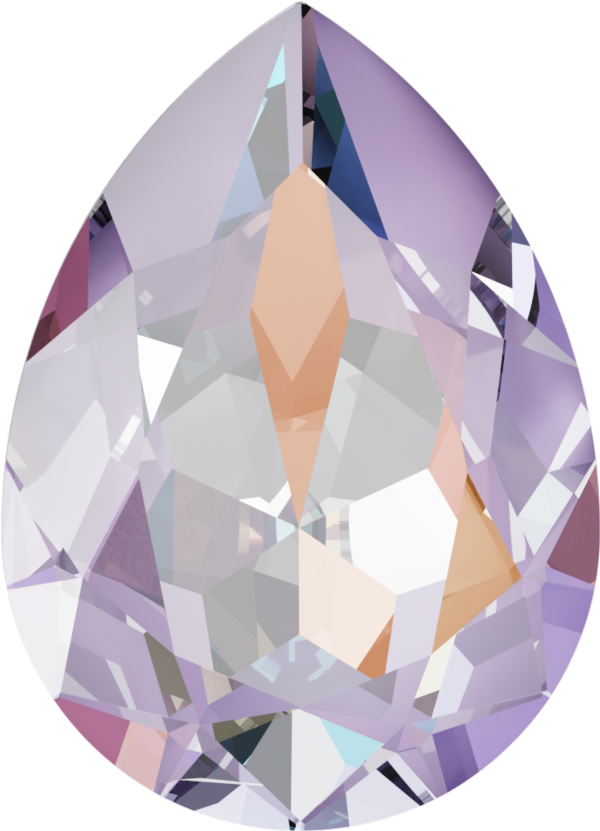 Swarovski 4320 Pear Shaped Fancy Stone Crystal Lavender DeLite 18x13mm