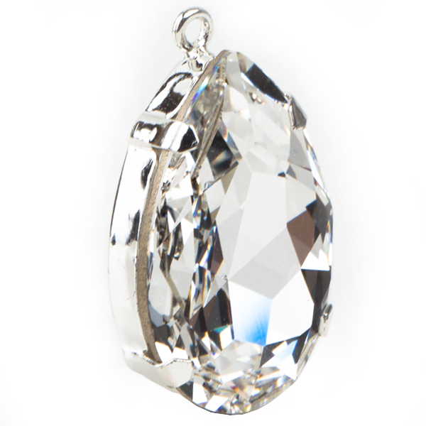 Swarovski 4327 Large Pear Shaped Fancy Stone Setting with Crystal 30x20mm