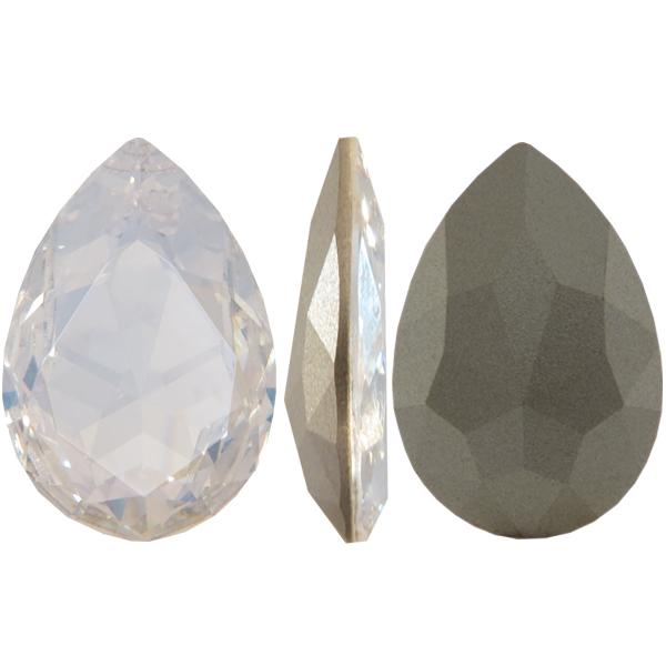 Swarovski 4327 Large Pear Shaped Fancy Stone Crystal Moonlight 30x20mm