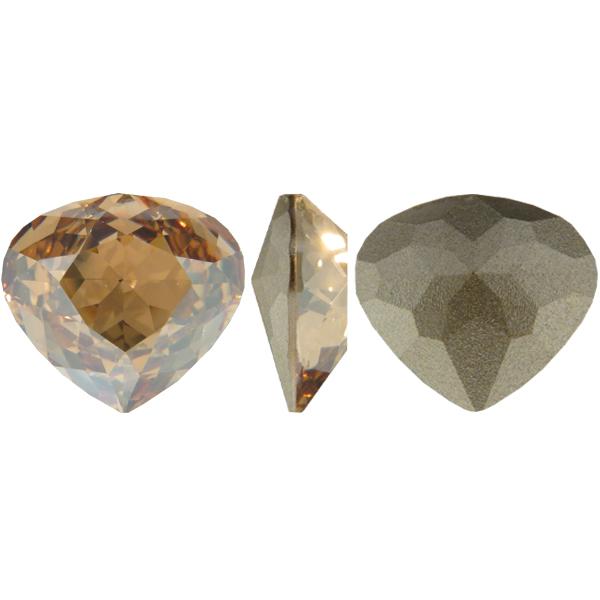 Swarovski 4370 Rounded Pear Shaped Fancy Stone Crystal Golden Shadow 15.5x14mm