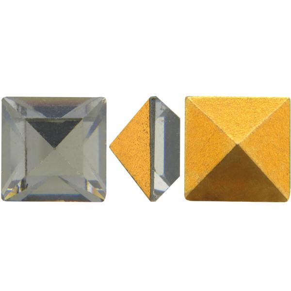 Swarovski 4400 Square Vintage Fancy Stone Black Diamond 4mm