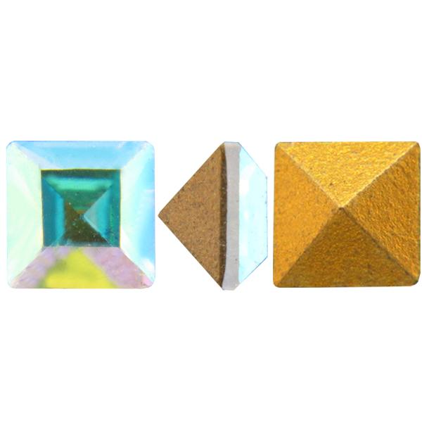 Swarovski 4400 Square Vintage Fancy Stone Crystal AB 10mm