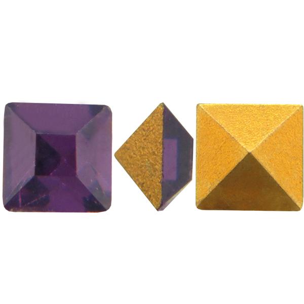 Swarovski 4400 Square Vintage Fancy Stone Dark Amethyst 2.4mm