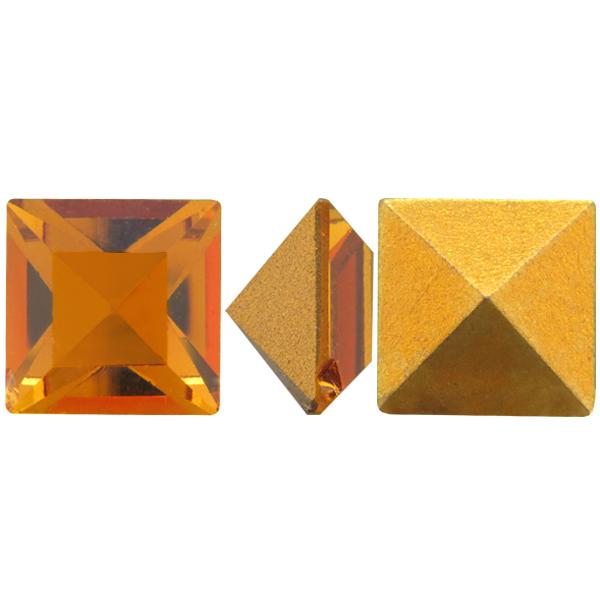 Swarovski 4400 Square Vintage Fancy Stone Topaz 10mm