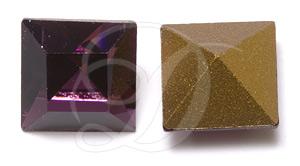 Swarovski 4400 Square Vintage Fancy Stone Amethyst 8mm