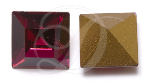 Swarovski 4400 Square Vintage Fancy Stone Ruby 4mm