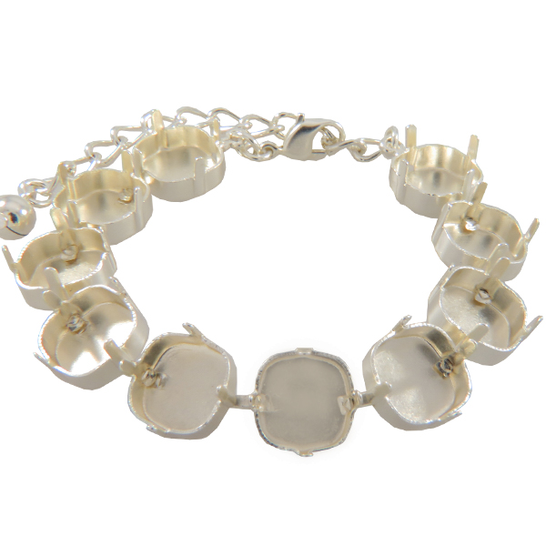Empty Cup Chain Bracelet Hand Set Stones 12mm with 10 boxes for Swarovski 4470 12mm