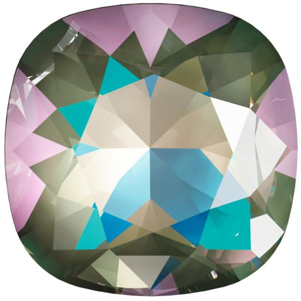 Swarovski 4470 Cushion Cut Square Fancy Stone Crystal Army Green DeLite 12mm