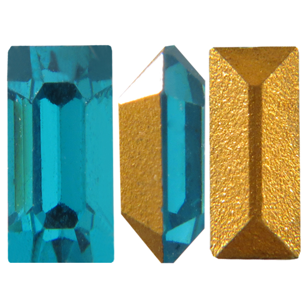 Swarovski 4500 Baguette Fancy Stone Blue Zircon 4x2mm