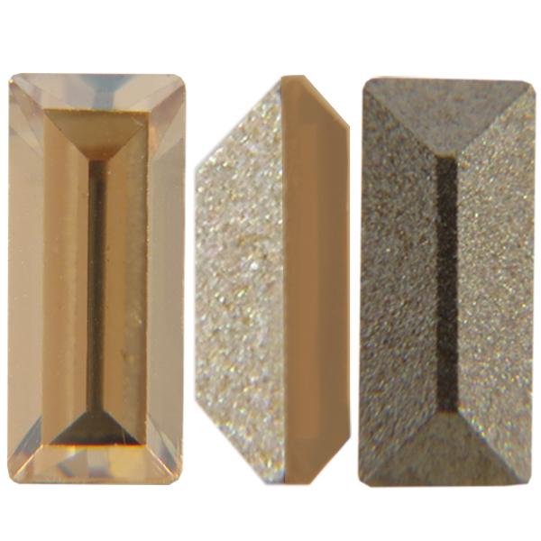 Swarovski 4501 Baguette Fancy Stone Crystal Golden Shadow 4x2mm