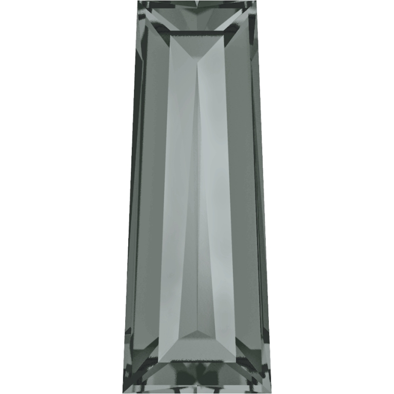 Swarovski 4503 Tapered Baguette Fancy Stone Black Diamond 4x2mm