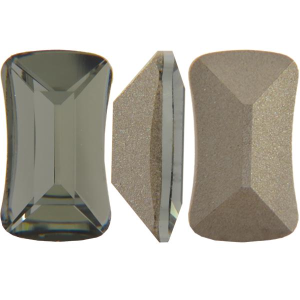 Swarovski 4505 Contour Baguette Fancy Stone Black Diamond 8x5mm