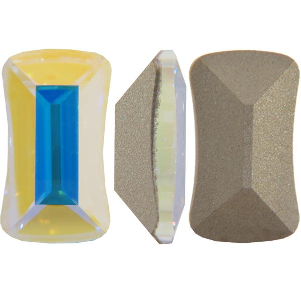 Swarovski 4505 Contour Baguette Fancy Stone Crystal AB 10x6mm