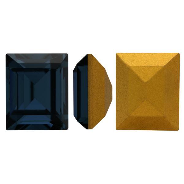 Swarovski 4510 Baguette Double Cut Fancy Stone Montana (Gold Foiled) 12x10mm