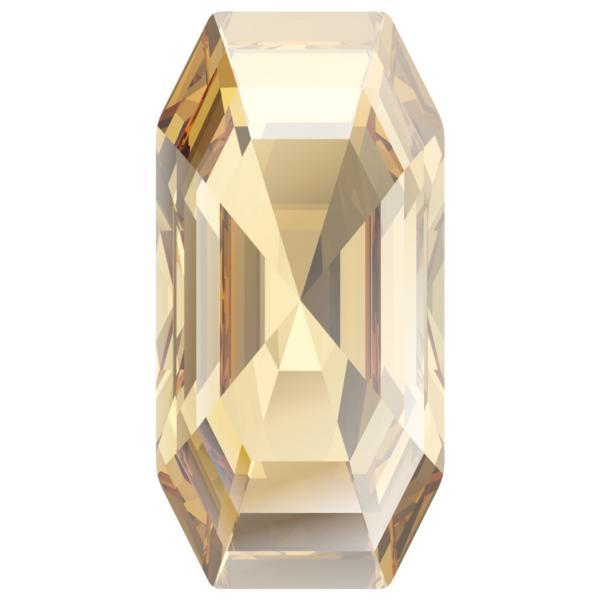 Swarovski 4595 Elongated Imperial Fancy Stone Crystal Golden Shadow 20x10mm