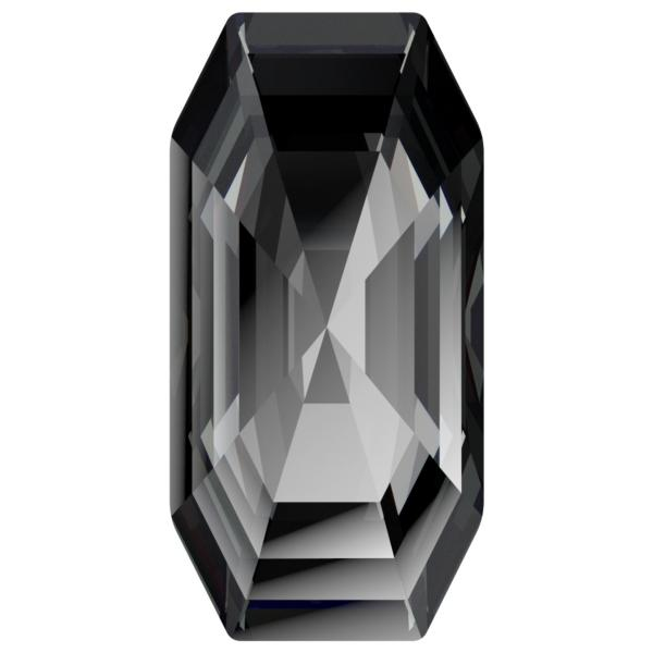 Swarovski 4595 Elongated Imperial Fancy Stone Crystal Silver Night 8x4mm