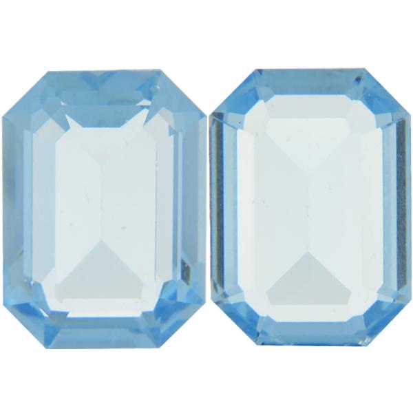 257b4a3db21e Swarovski 4610 Rectangle Octagon Fancy Stone Aquamarine (Unfoiled) 12x10mm