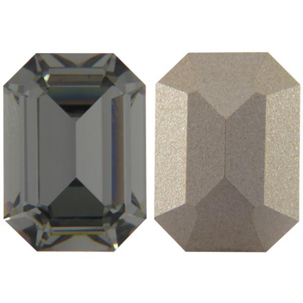 ea579bd69053 Swarovski 4610 Rectangle Octagon Fancy Stone Black Diamond 14x10mm ...