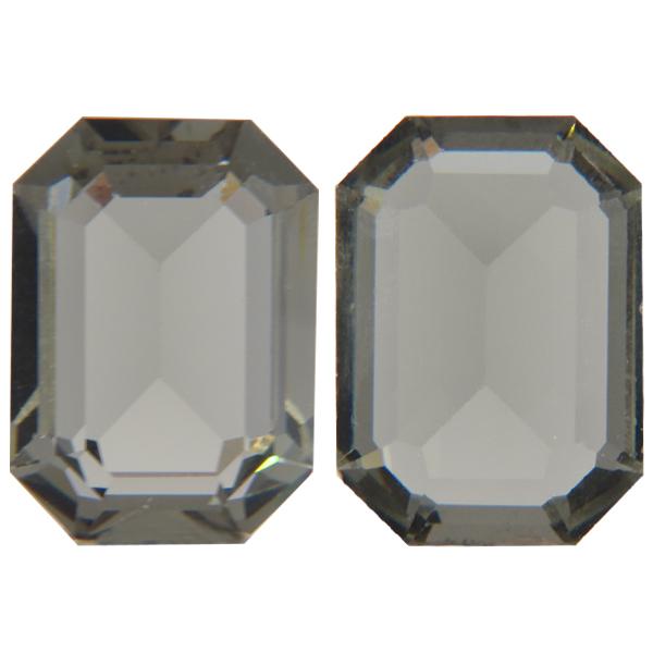 Swarovski 4610 Rectangle Octagon Fancy Stone Black Diamond 18x13mm