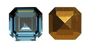 Swarovski 4671 Square Emerald-Cut Fancy Stone Montana 8mm