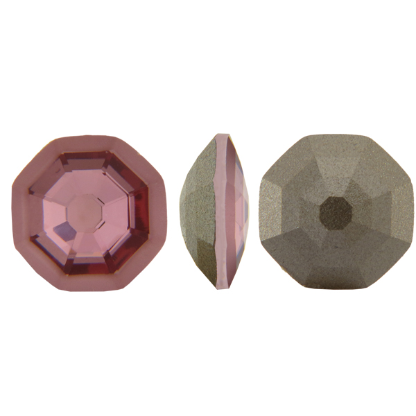 Swarovski 4678/G Solaris Fancy Stone, Partly Frosted Crystal Antique Pink 14mm