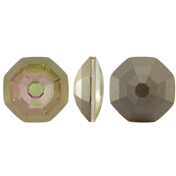 Swarovski 4678/G Solaris Fancy Stone, Partly Frosted Crystal Luminous Green 23mm