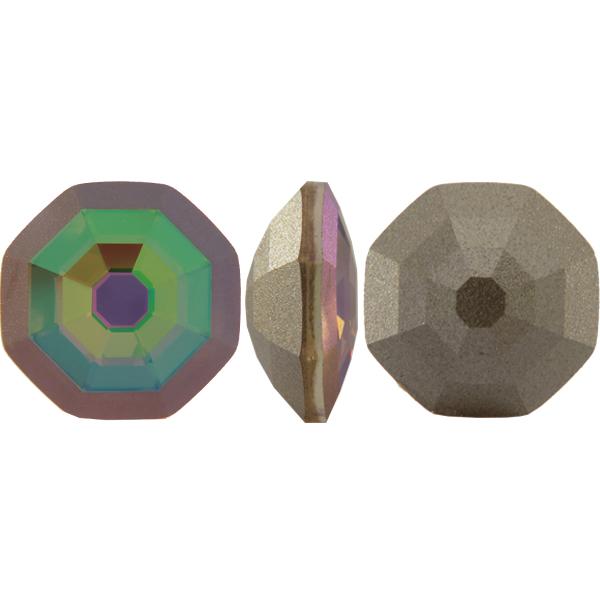 Swarovski 4678/G Solaris Fancy Stone, Partly Frosted Crystal Purple Haze 14mm