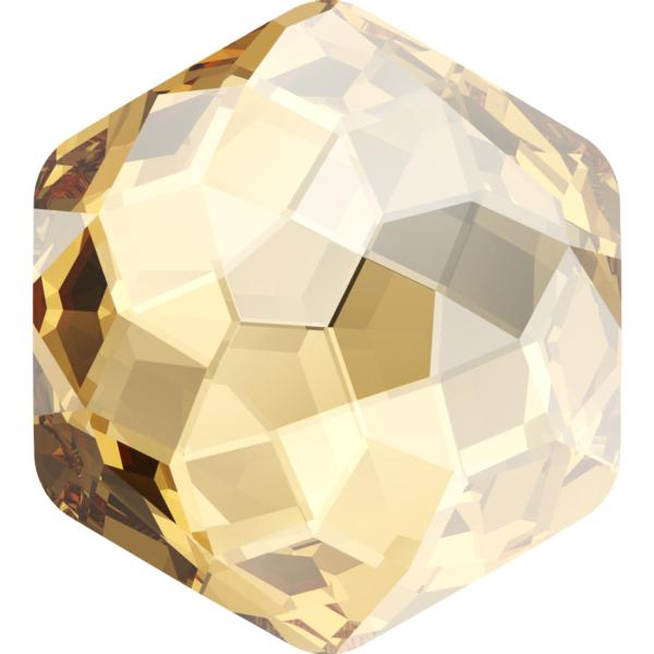Swarovski 4683 Fantasy Hexagon Fancy Stone Crystal Golden Shadow 10x11.2mm