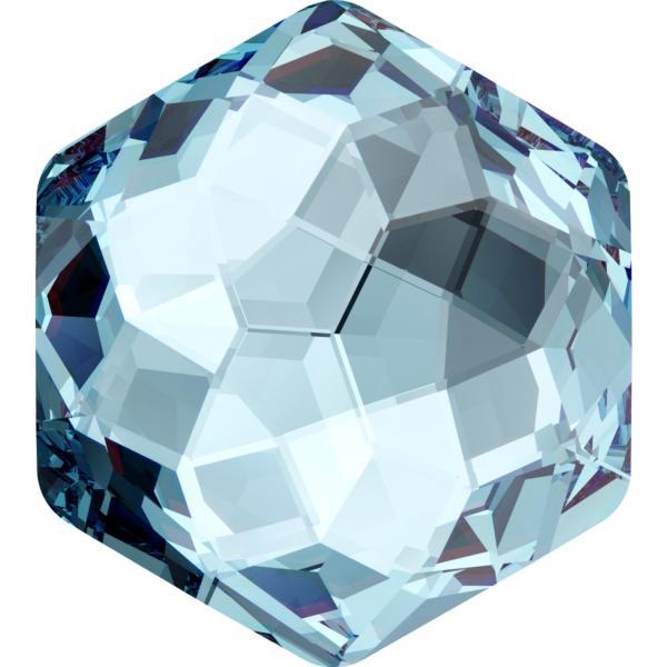 Dreamtime Crystal DC 4683 Thin Hexagon Fancy Stone Aquamarine 10x11.2mm