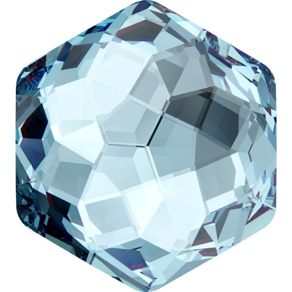 Swarovski 4683 Fantasy Hexagon Fancy Stone Aquamarine 7.8 x 8.7mm