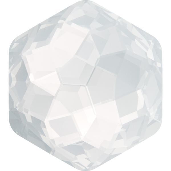 Dreamtime Crystal DC 4683 Thin Hexagon Fancy Stone White Opal 10x11.2mm