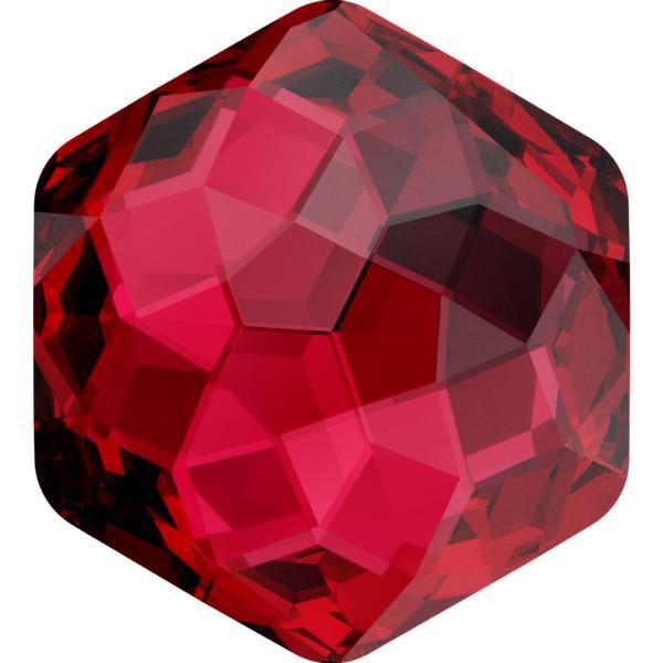 Dreamtime Crystal DC 4683 Thin Hexagon Fancy Stone Scarlet 10x11.2mm