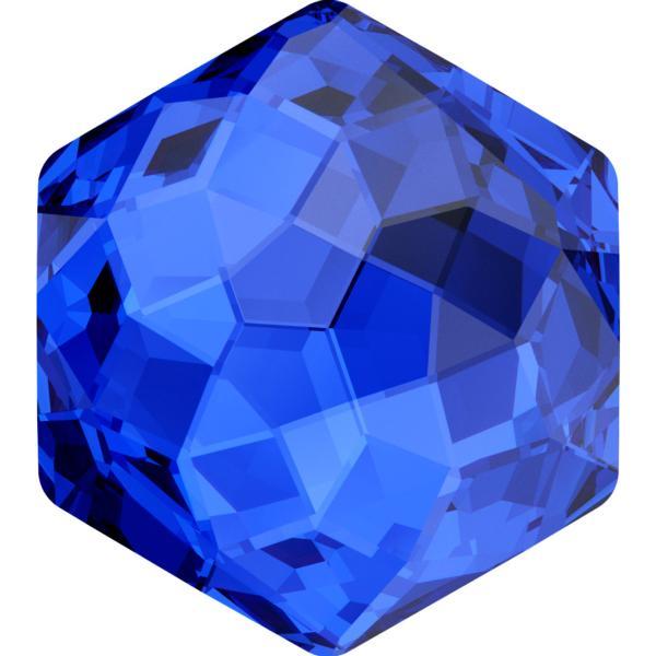 Swarovski 4683 Fantasy Hexagon Fancy Stone Majestic Blue 7.8 x 8.7mm